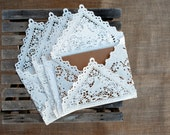 Sale** 20 Lace Paper Envelopes for Wedding Invitation, Showers, Etc.