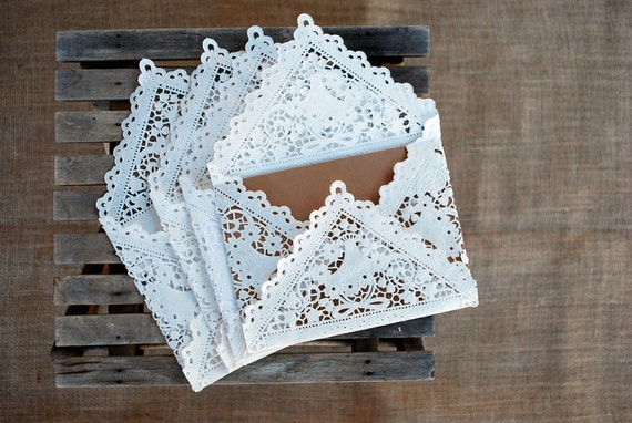 Diy Wedding Invitation Envelopes: SALE 20 Lace Paper Envelopes For Wedding Invitation