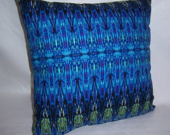 PILLOW COVER Awesome Blues -  18 x 18
