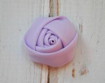 "5pc Lavender Chiffon Rosette - 1.5"" inch chiffon rose flowers"