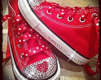 Sweetheart Red Bling Converse VALENTINES DAY