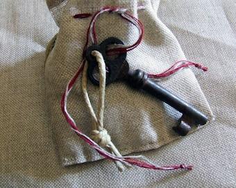Antique key ThreeHoles