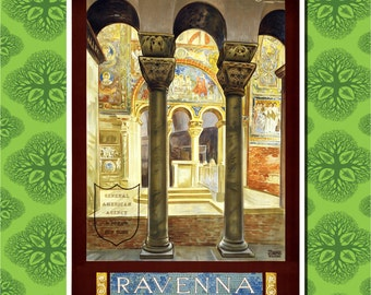 Ravenna Italy Travel Poster Wall Decor 7 Print Sizes Available