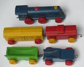 Strom Bec Car vintage wooden train train set