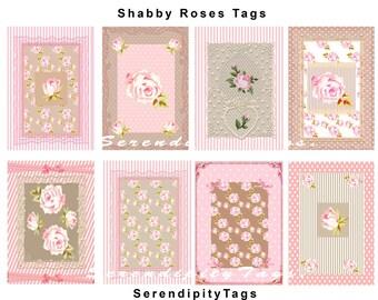 Shabby Rose Tags