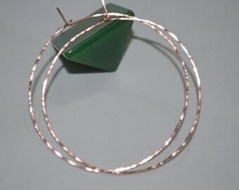 Large Hoop Earrings - Gold Hoop Earrings - Large Hoops - Hammered Earings - Thin Hoop Earrings