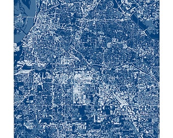 Memphis Cityscape / Tennessee Map Graphic Aerial Art Print / 8x10 Grad Gift / Choose your color
