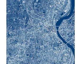 Hartford Cityscape / Connecticut Map Art Print City Wall Art / 8x10 Poster / Choose your color