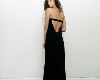Black Prom Dress, Bridesmaid Dress, Maxi Party Dress