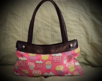 Pink Cupcake Purse Skirt ONLY for Old Style Thirty-One Skirt Purse