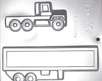 Trailer Truck Chocolate Candy Mold 1232