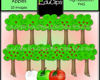 Apple Tree Counting 1-10 Clip Art