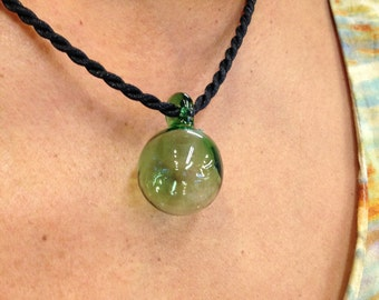 Green Hawaiian Glass Float Pendant