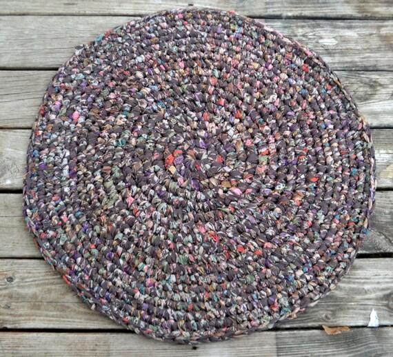 Alfombra hecha a mano crochet redondas alfombra por for Alfombra en ingles como se escribe