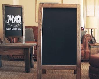 rustic chalkboard 48 x 24 double sided a frame sandwich board. Black Bedroom Furniture Sets. Home Design Ideas