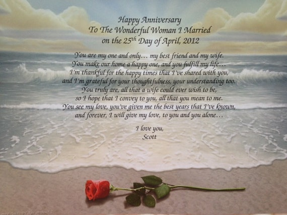 Anniversary Gift For Wife Personalized Love By WePersonalizeGifts
