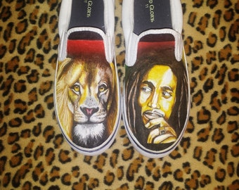 Bob Marley custom shoes