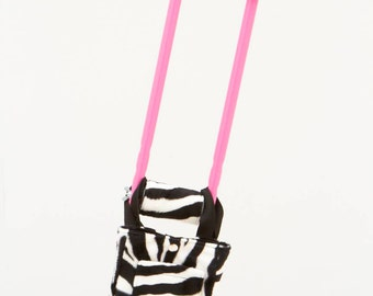 "Crutch Covers and Bag in ""Zebra"" (Bubblegum Pink crutches sold separately at www.castcoverz.com)"