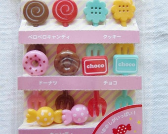 Cute Sweets/Candy Cupcake Topper & Food Decoration Picks from Japan, Bento
