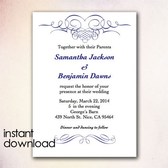 Wedding Invitation Wording: Microsoft Wedding Invitation Templates Download
