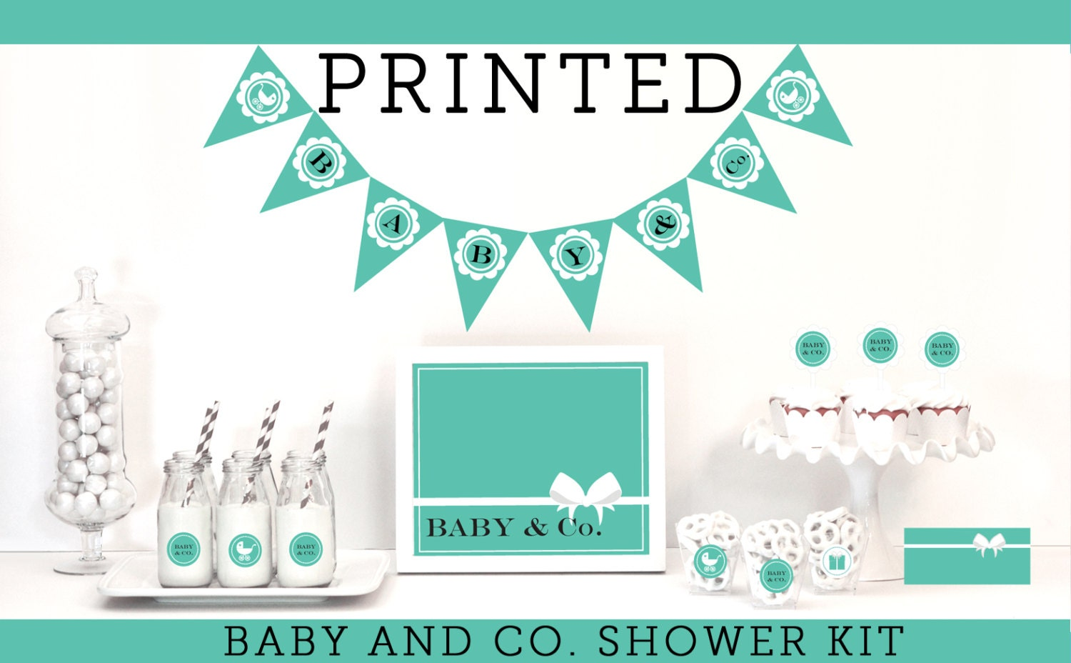 baby and co baby shower decorations tiffany baby by modparty