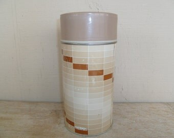 Unique Pattern Vintage King-Seeley Thermos