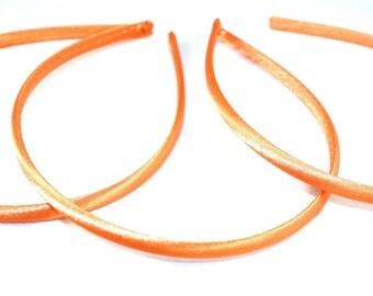 7mm Orange Satin Headbands  3 Pieces #C112