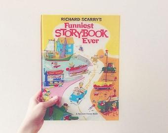 Vintage 1972 Richard Scarry-Funniest Storybook Ever-Children's Books