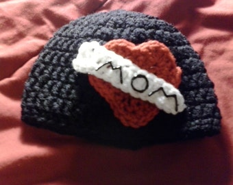 Crochet MOMMY tatto hat-infant size