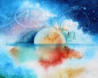 Watercolor Painting Original Watercolor Painting Abstract  Original watercolor painting 11x 14, Wall decor