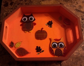Mini Autumn tray. - free shipping