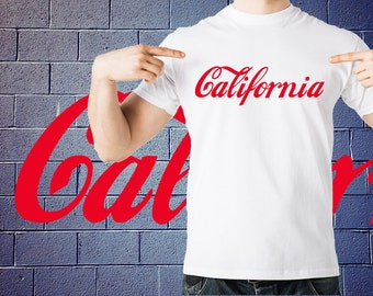 California T-Shirt Coca Cola Inspired Tshirt Shirt Tee