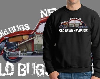 Old Bugs Never Die Sweatshirt Retro Cars Fleece Sweater