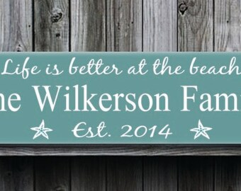 Beach house signs | Etsy