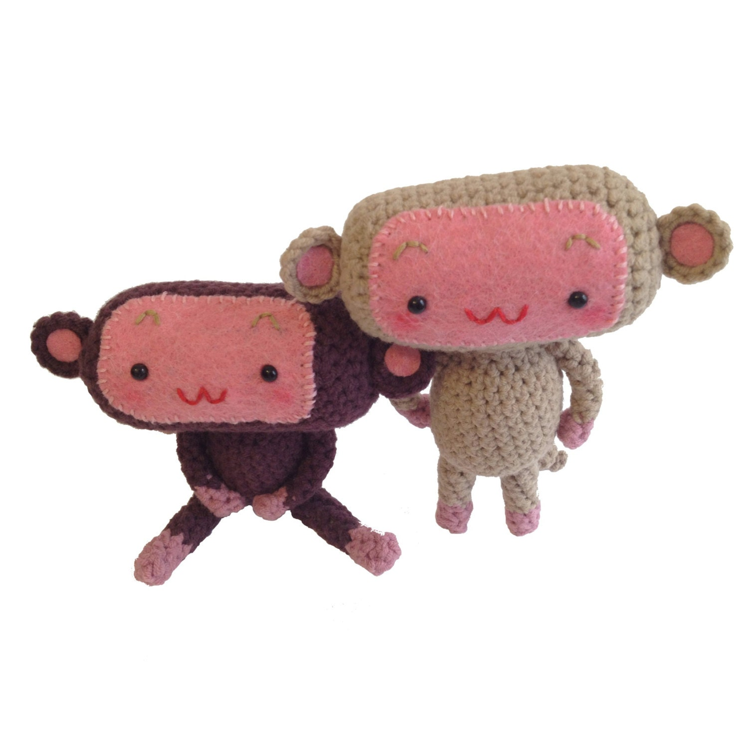 Amigurumi Monkey Etsy : Little monkey amigurumi by TakeAwayCrochet on Etsy