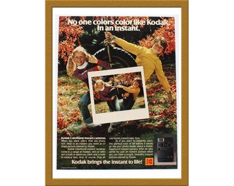 "1981 Kodak Color Print AD / No one colors like Kodak. In an instant / 9"" x 12"" / Original Advertisement / Buy 2 ads Get 1 FREE"