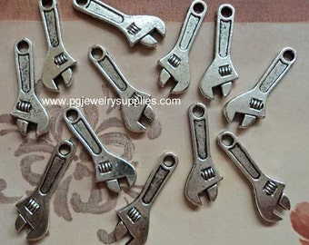 Pewter pendant wrenches 23 mm x9 mm. Twelve 12 pieces l
