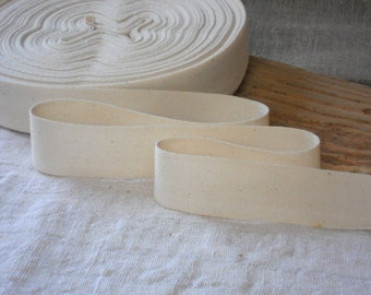 Ivory tape ribbon, fishbone cotton tape for sewing, vintage look ribbon 3 meters for DIY projects