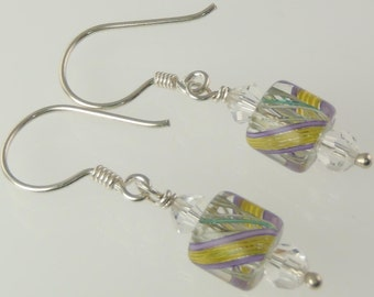 Artisan - Sterling Silver Furnace Glass Earrings E099