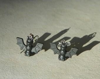 Lego Bat Dangle Earrings