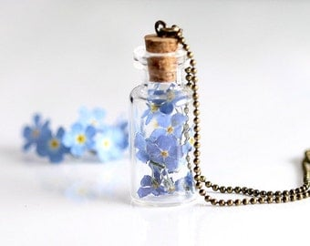 Forget-me-not flowers Trockblumen chain kt020