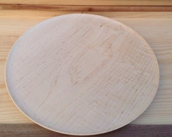 Wood Platter handcrafted from Maple- 14M007