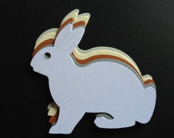 10 large Bunny Rabbit bunnie die cuts for Baby Cards/toppers -easter craft cardmaking