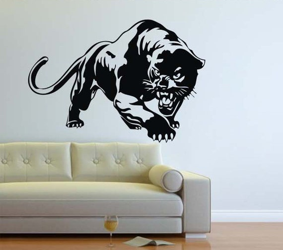 Items similar to Panther wall decal Big Cat Hunter ...