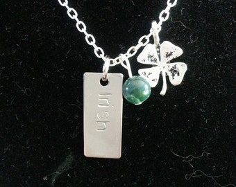 Silver toned irish necklace (personalized options)