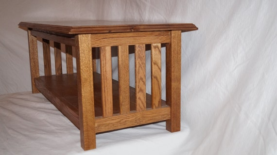 Coffee Table Made Of 100 Solid Oak Mission Style