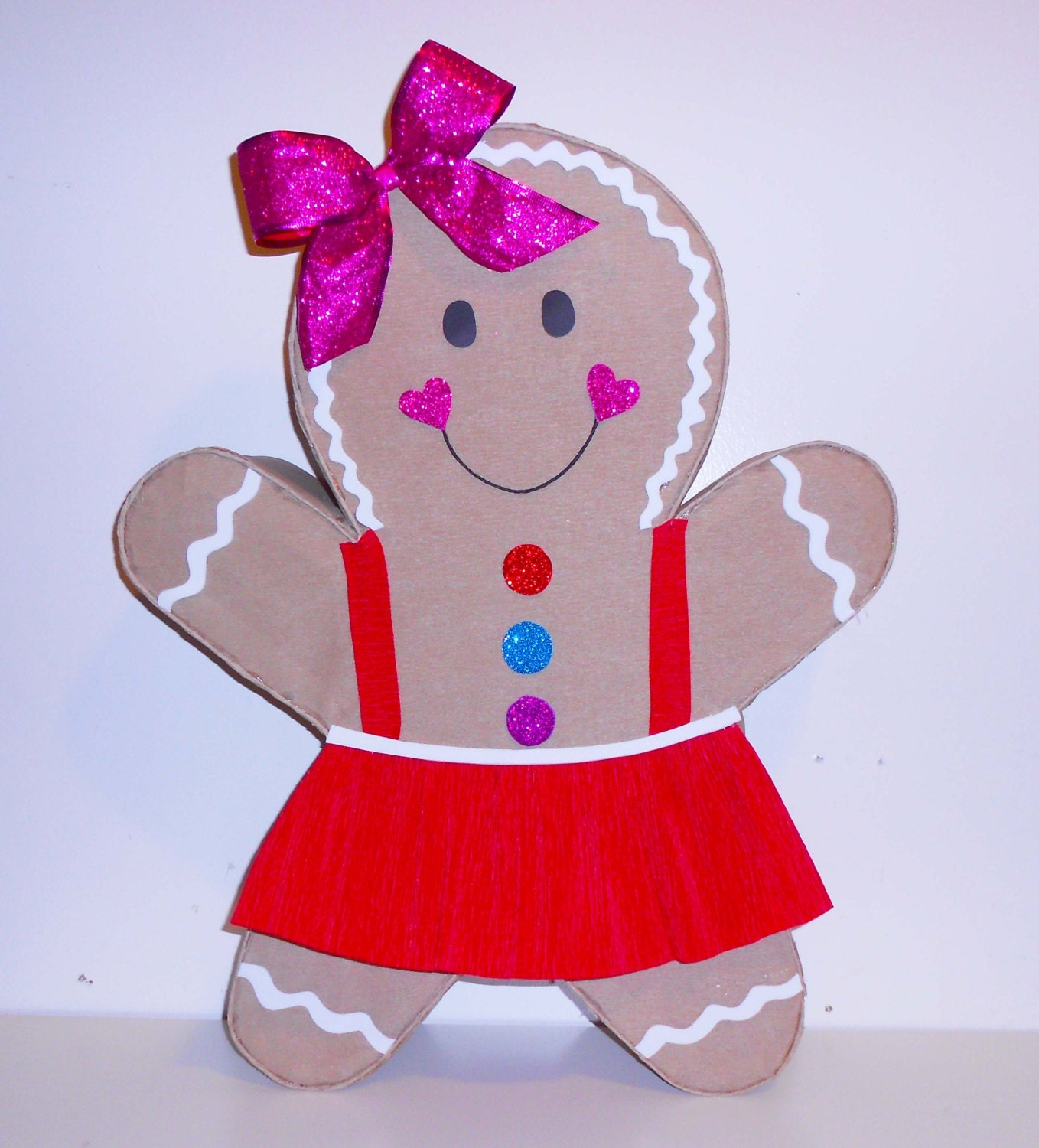 Gingerbread girl pi ata candyland birthday party decoration for Decoration pinata