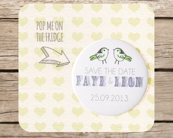 Love birds, wedding Save the Date Magnet