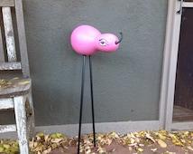 Bright Pink Gourd Animal