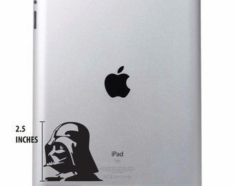 Darth Vader Decal Ipad Laptop Vinyl Sticker Star Wars - Various Colours